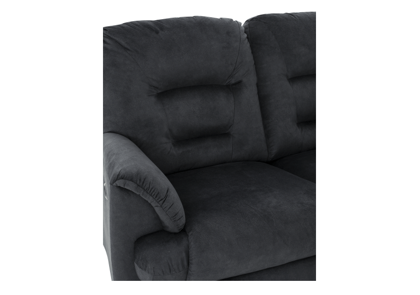 Black Reclining Upholstered Loveseat product photo other06 L