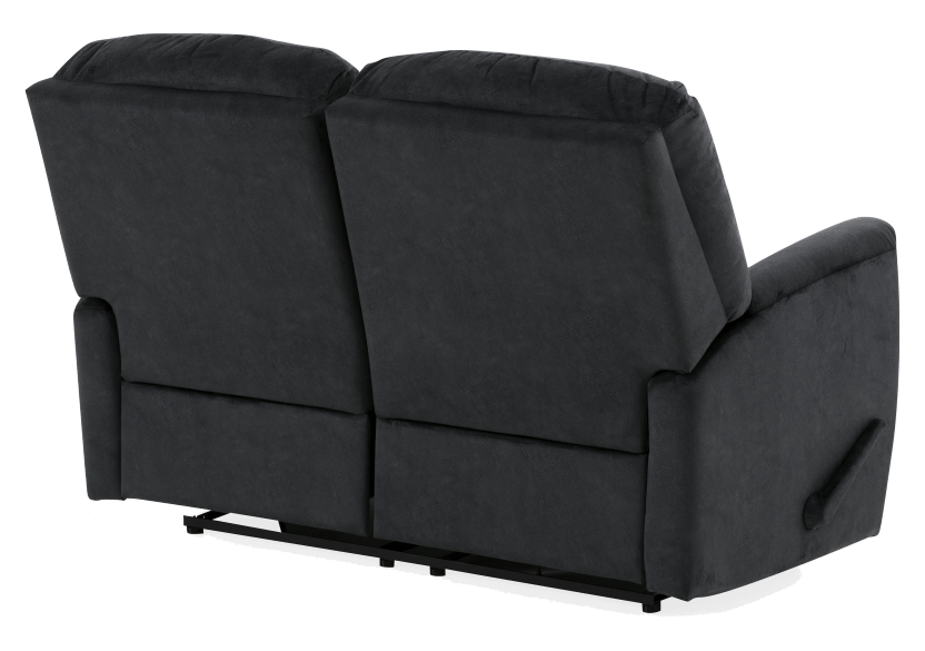 Black Reclining Upholstered Loveseat product photo other08 L
