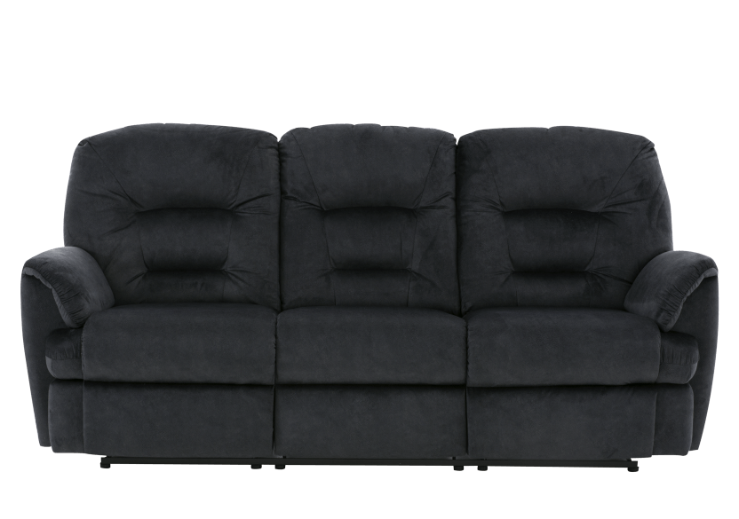Dark Blue Reclining Upholstered Sofa product photo