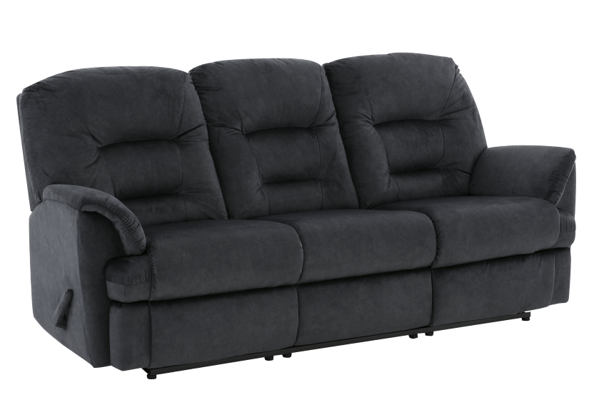 Dark Blue Reclining Upholstered Sofa product photo other01 L