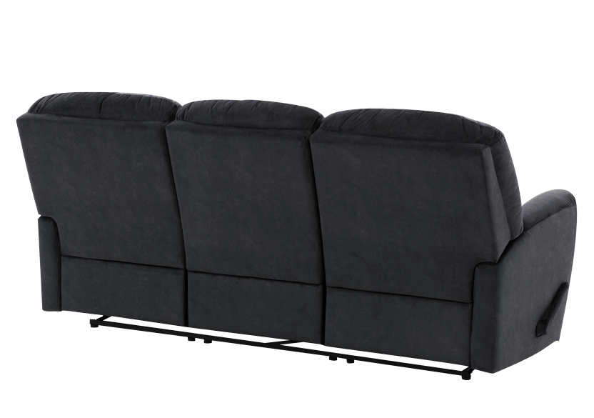 Dark Blue Reclining Upholstered Sofa product photo other08 L