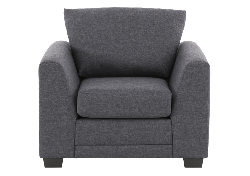 Grey Upholstered Armchair product photo Front View L