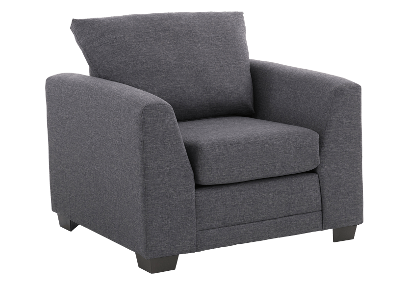 Grey Upholstered Armchair product photo other01 L