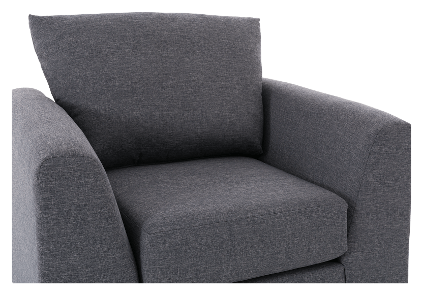 Grey Upholstered Armchair product photo other03 L
