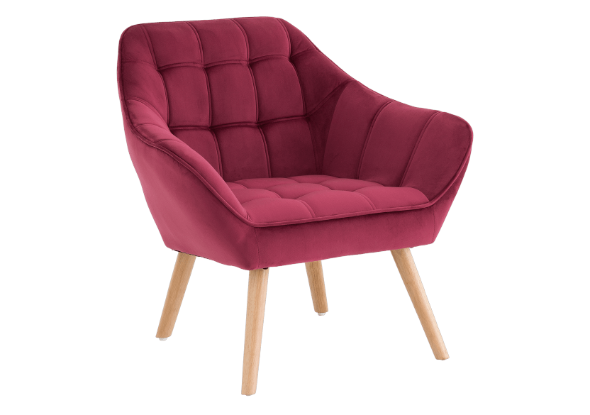 Red Upholstered Side Chair product photo other01 L