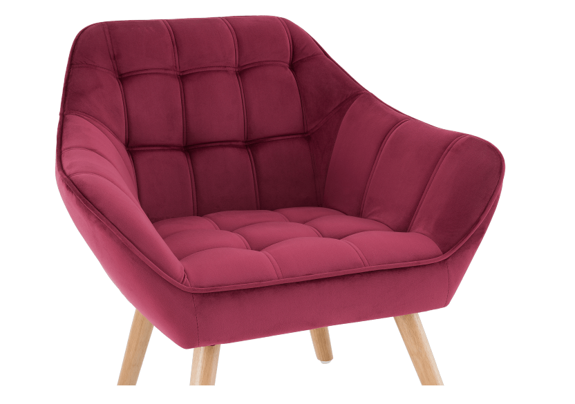 Red Upholstered Side Chair product photo other03 L