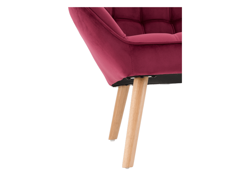 Red Upholstered Side Chair product photo other06 L
