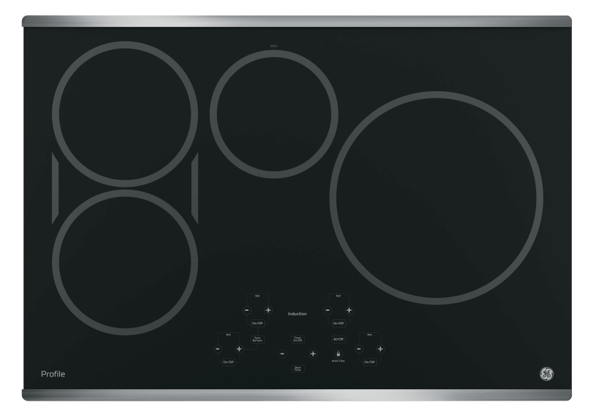 GE Induction Cooktop - PHP9030SJSS product photo Front View L