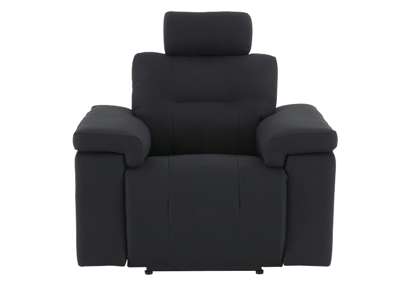 Black Reclining Upholstered Armchair - ELRAN product photo