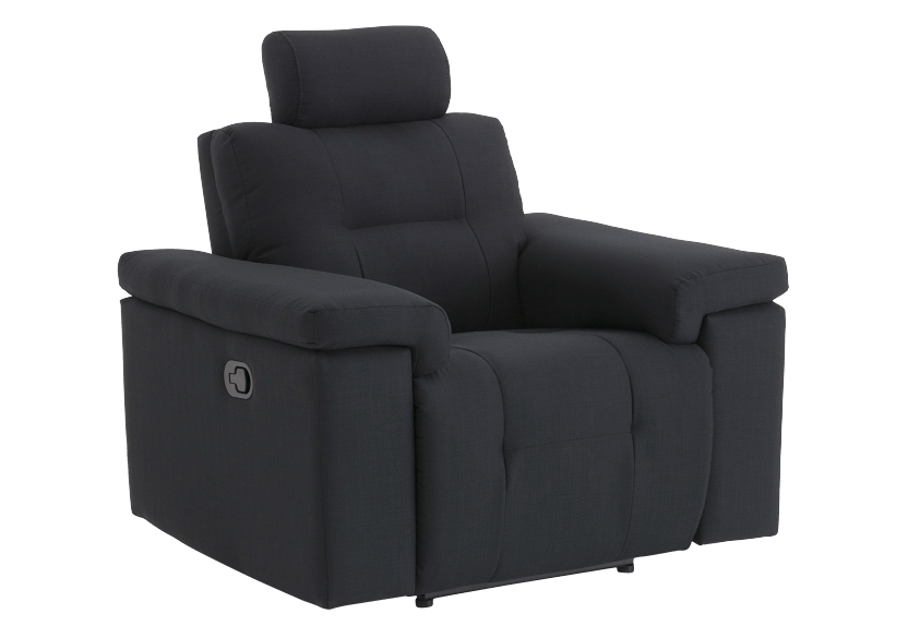 Black Reclining Upholstered Armchair - ELRAN product photo other01 L