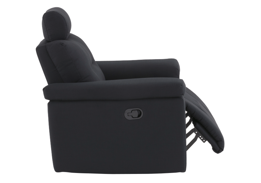Black Reclining Upholstered Armchair - ELRAN product photo other03 L