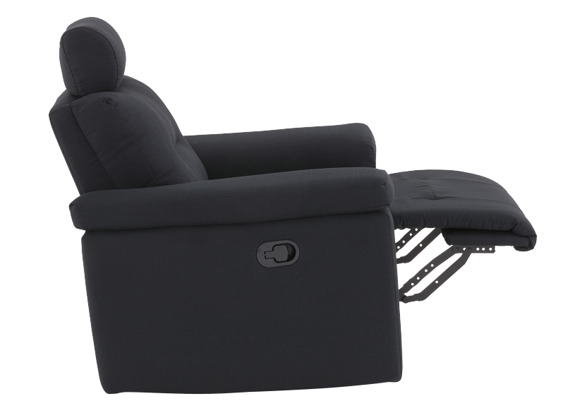 Black Reclining Upholstered Armchair - ELRAN product photo other04 L