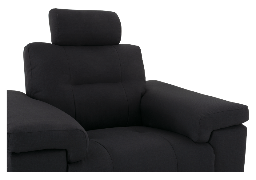 Black Reclining Upholstered Armchair - ELRAN product photo other06 L