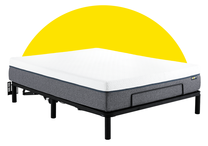 Collection HOP - HOP BASE AJUSTABLE - Double Motorized Adjustable Bed Frame for Mattress-in-a-Box product photo