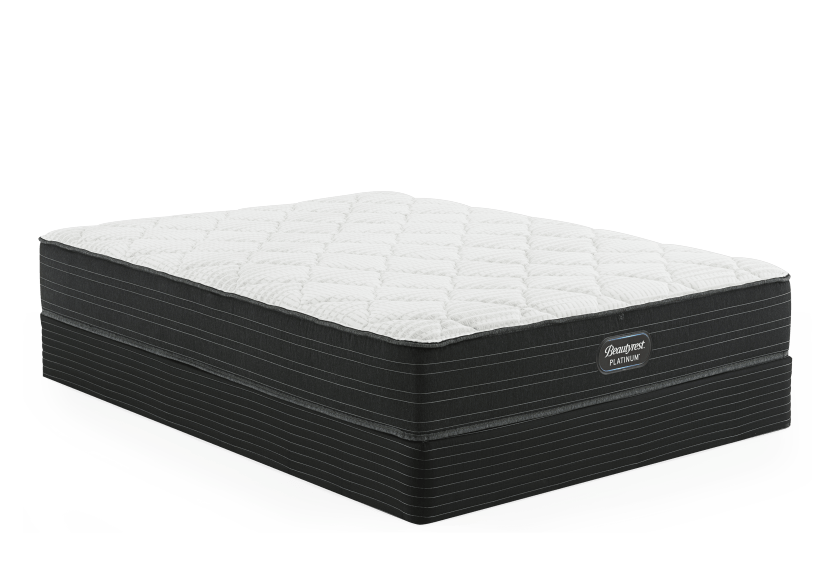 "Simmons Pewter TT - 5.5"" King Mattress and Box Spring product photo Front View L"