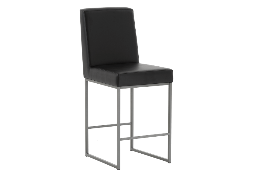 Metal Stool with Black Upholstered Seat product photo other01 L