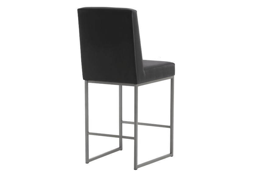 Metal Stool with Black Upholstered Seat product photo other03 L