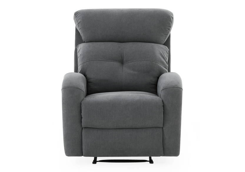 Grey Upholstered Reclining and Rocking Armchair product photo