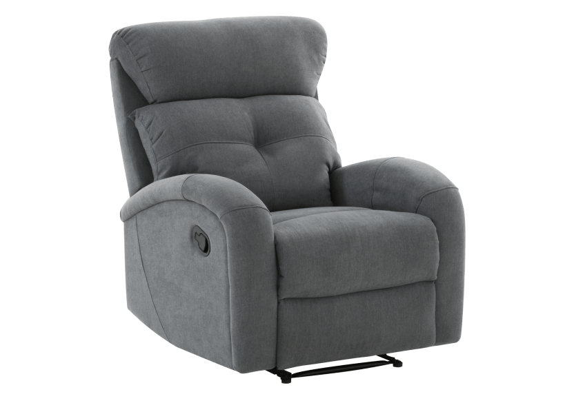 Grey Upholstered Reclining and Rocking Armchair product photo other01 L