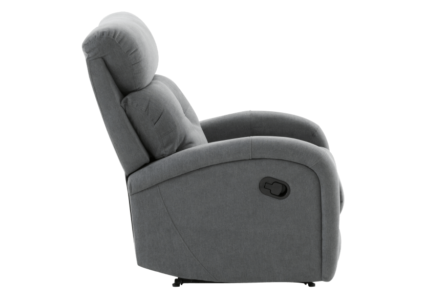Grey Upholstered Reclining and Rocking Armchair product photo other02 L