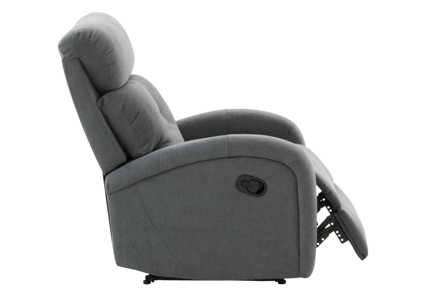 Grey Upholstered Reclining and Rocking Armchair product photo other03 L