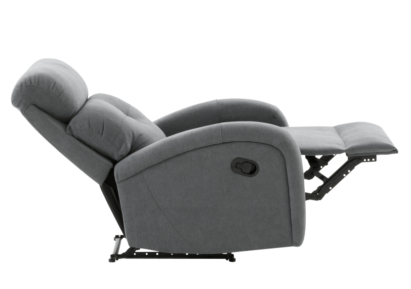 Grey Upholstered Reclining and Rocking Armchair product photo other05 L