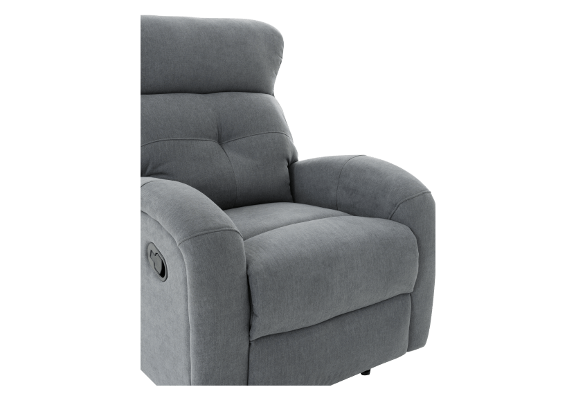 Grey Upholstered Reclining and Rocking Armchair product photo other06 L