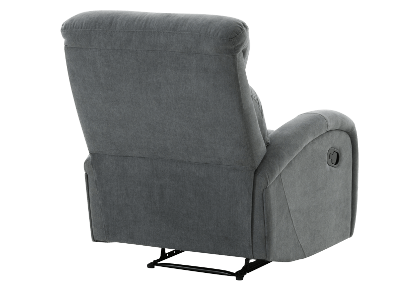 Grey Upholstered Reclining and Rocking Armchair product photo other08 L