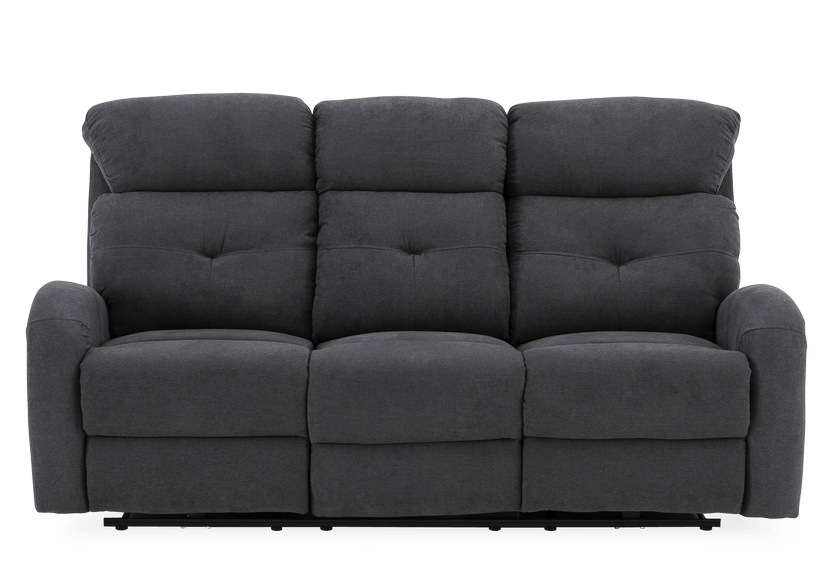 Grey Reclining and Motorized Upholstered Sofa product photo