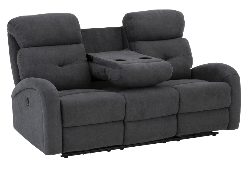 Grey Reclining and Motorized Upholstered Sofa product photo other02 L