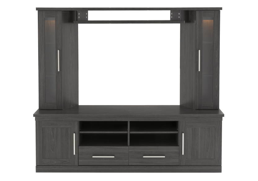 Dark Grey TV Stand with Storage product photo