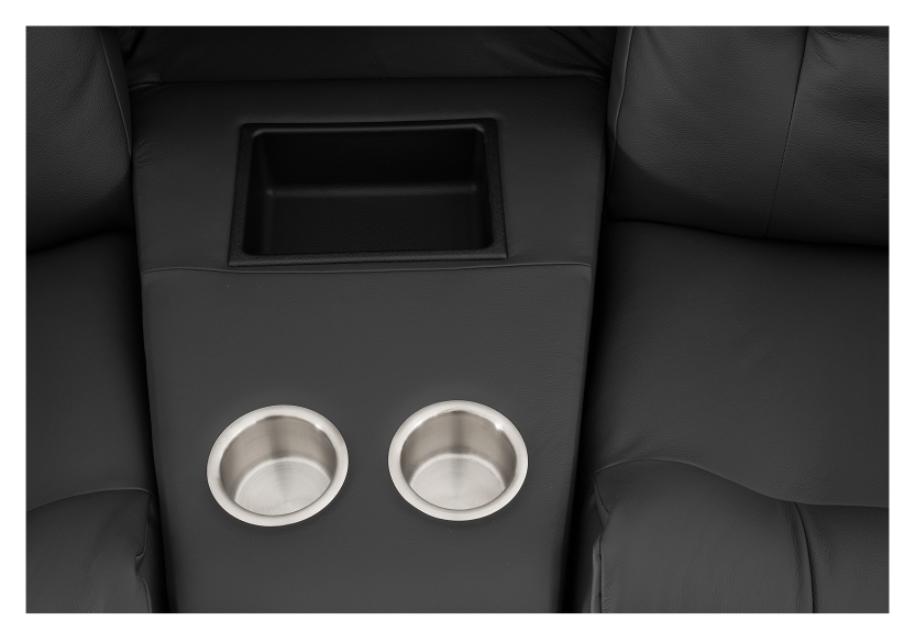 Dark Grey Home Theater Reclining Sofa with Genuine Leather Seats - ELRAN product photo other10 L