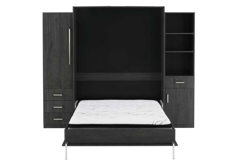 Dark Grey Wall Murphy Bed - Queen Bed product photo other01 L
