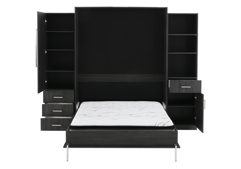 Dark Grey Wall Murphy Bed - Queen Bed product photo other02 L