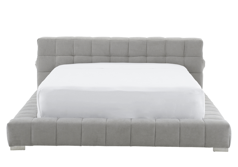 Grey Upholstered - Queen Bed product photo Front View L