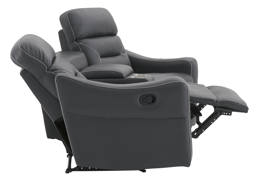 Dark Grey Home Theater Reclining Loveseat Loveseats Favorable Buying At Our Shop