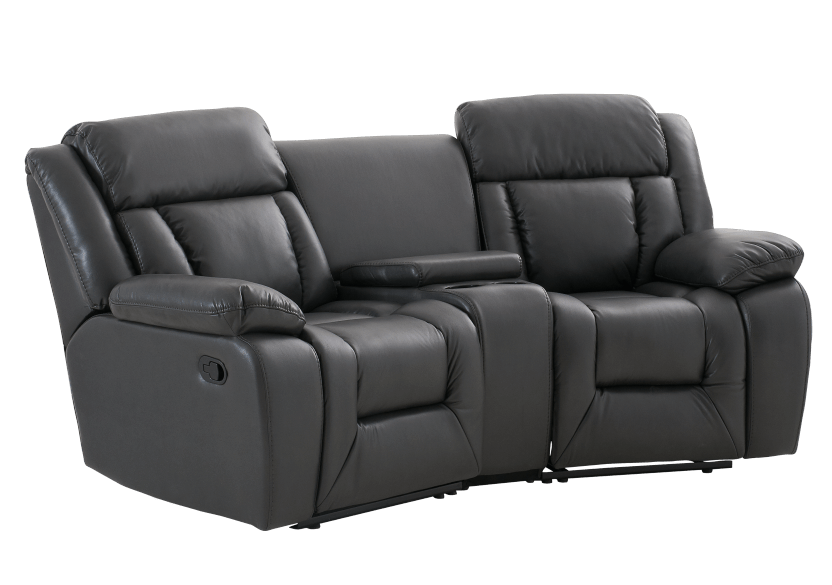 Dark Grey Reclining Loveseat product photo other01 L