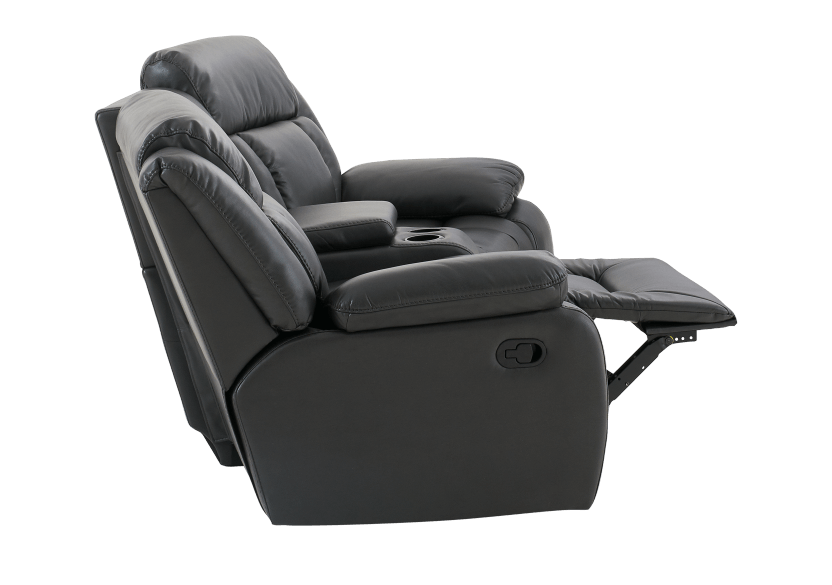 Dark Grey Reclining Loveseat product photo other05 L