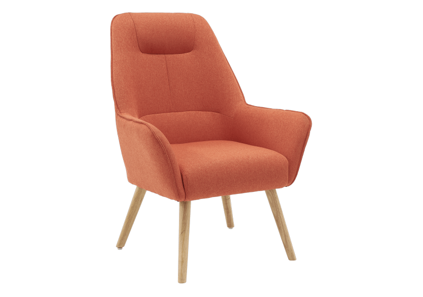 Orange Upholstered Side Chair product photo other01 L