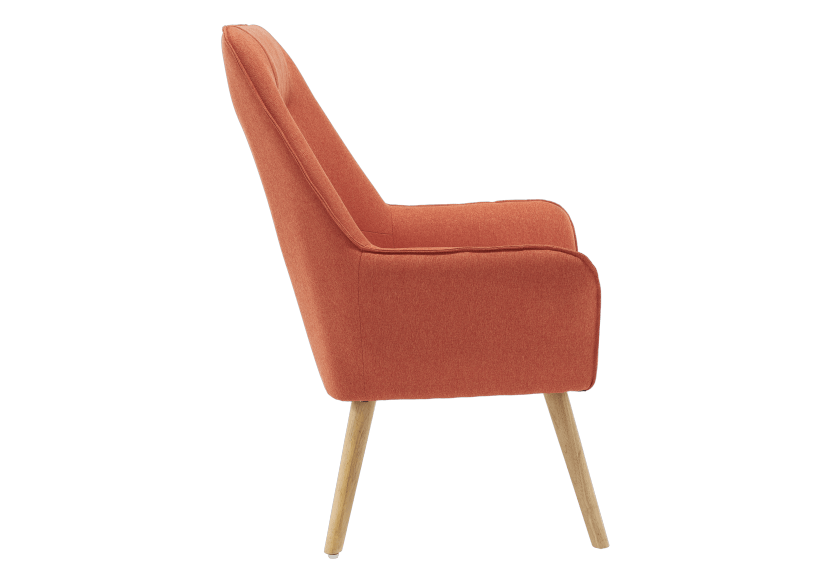 Orange Upholstered Side Chair product photo other02 L