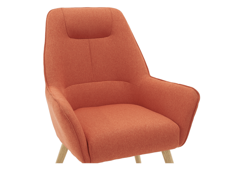 Orange Upholstered Side Chair product photo other03 L