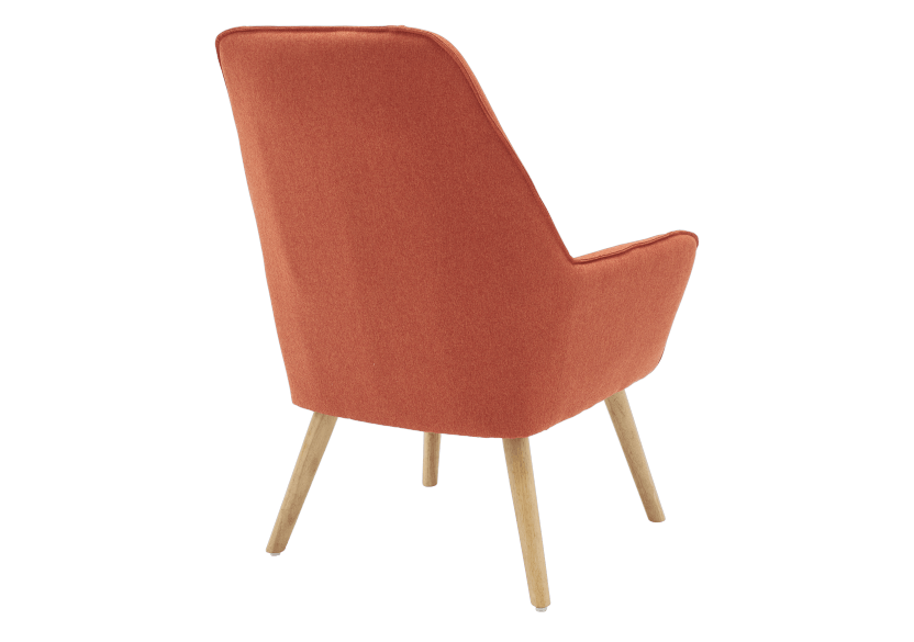 Orange Upholstered Side Chair product photo other05 L