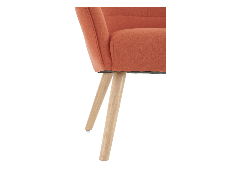 Orange Upholstered Side Chair product photo other06 L