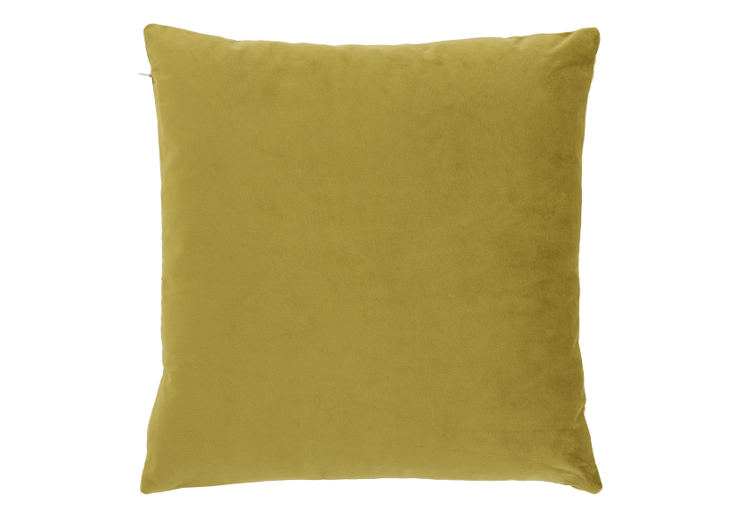 "18x18"" Yellow Decorative Pillow product photo Front View L"