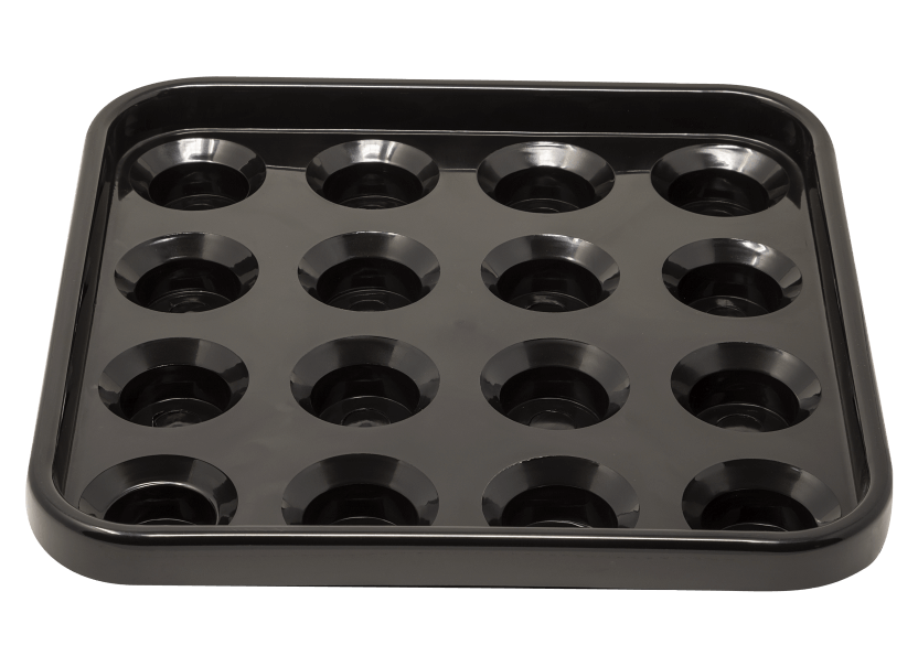 Black Pool Ball Tray product photo Front View L