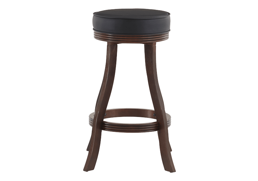 Brown and Black Wood Swivelling Stool product photo Front View L