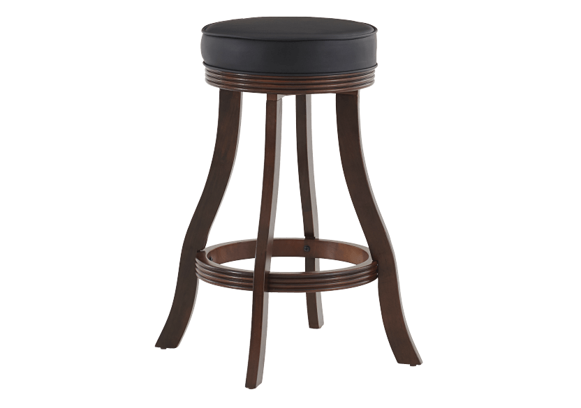 Brown and Black Wood Swivelling Stool product photo other01 L
