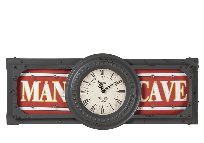 "30.5x12.5"" Man Cave Clock product photo Front View L"