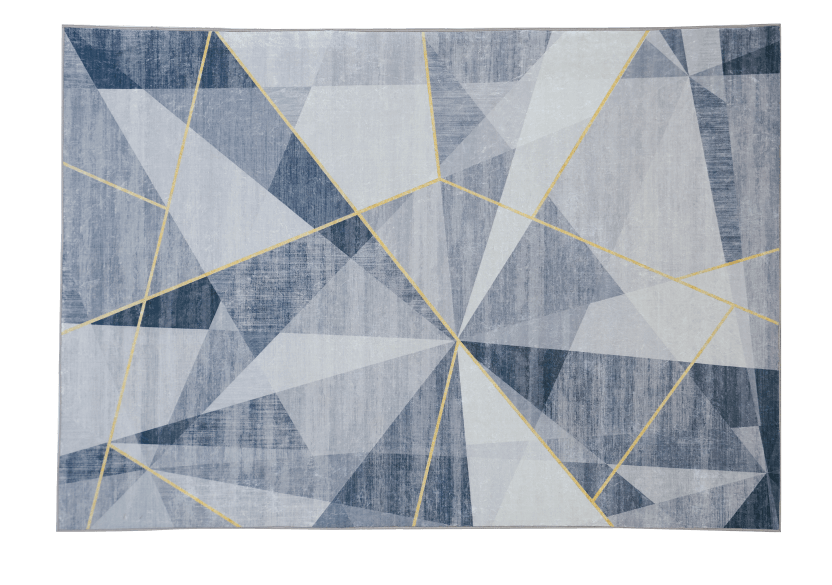 "61x93"" Grey and Golden Yellow Rug product photo other01 L"