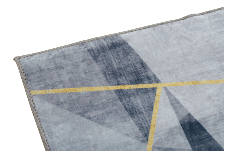 "61x93"" Grey and Golden Yellow Rug product photo other02 L"